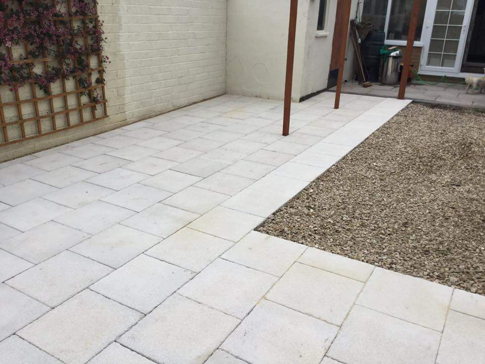 Grey Textured Patio