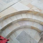 Fossil mint sandstone patio in shoscombe