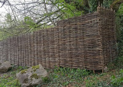 Whittled fencing (Bristol)