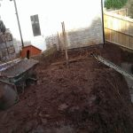 Garden renovation in chilcompton